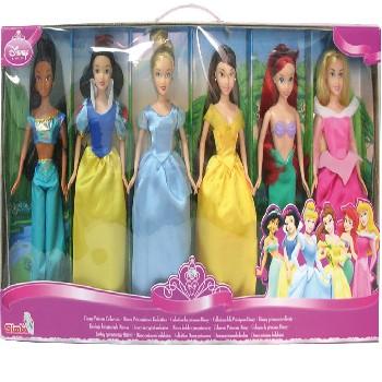 lote de 6 princesas muñecas