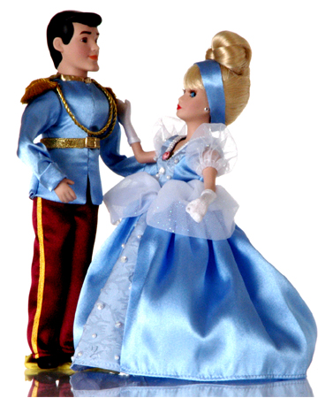 muñecas de porcelana baile real cenicienta