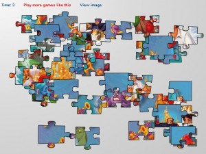 Juego puzzle la sirenita