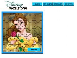 juego puzzle bella con flor