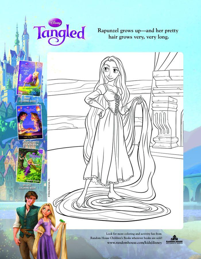 Único Páginas Para Colorear De Disney Princesses Enredado Fotos ...