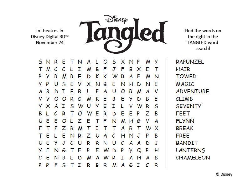 Enredados: Sopa de letras | Princesas Disney, Imagenes, Videos, Juegos ...