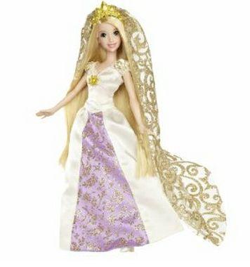 de la pelicula enredados en la cual la vemos con su vestido de novia