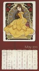 Calendario Princesas Disney 2013 002