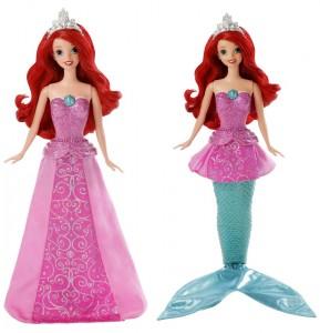 Muneca Ariel de sirena a princesa