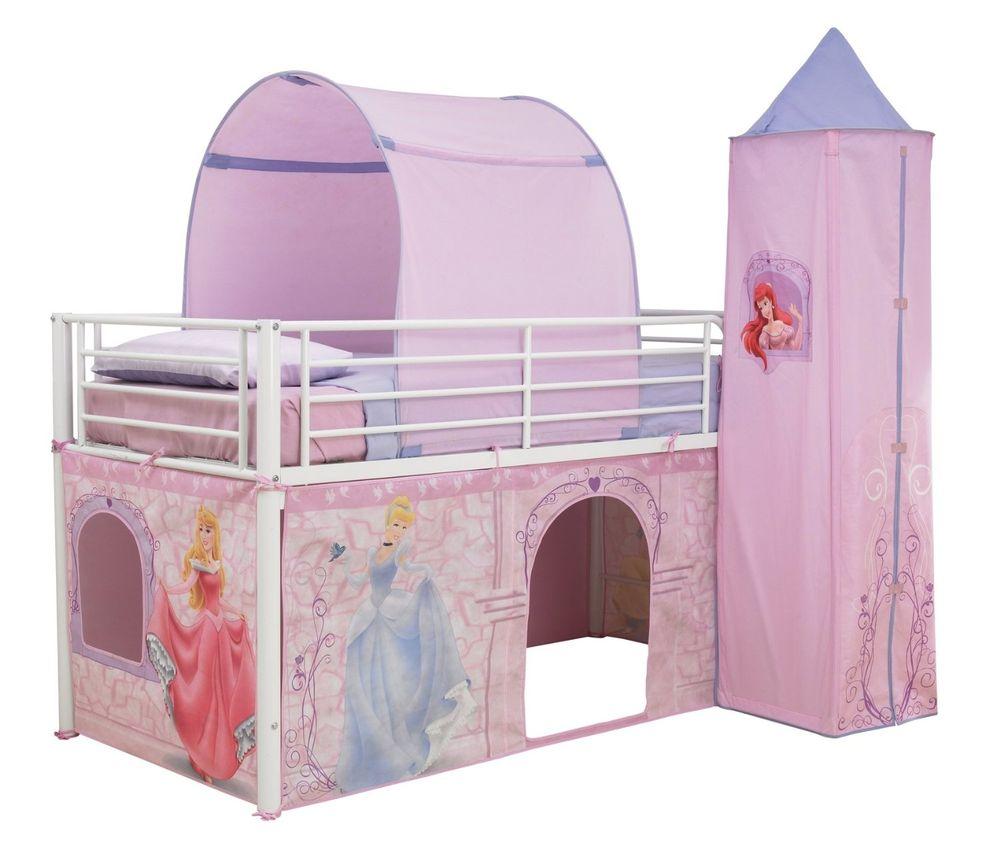 Tienda para cama en altura Princesas Disney
