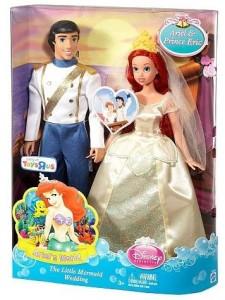 Caja Muneca La Sirenita La boda de Ariel y Eric