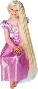 Peluca de Rapunzel que brilla en la oscuridad
