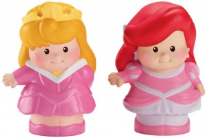 Little People Disney Aurora y Ariel Figuras