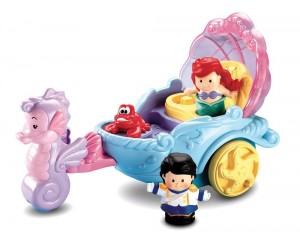 Little People Disney Carroza Cantarina De Ariel Figuras