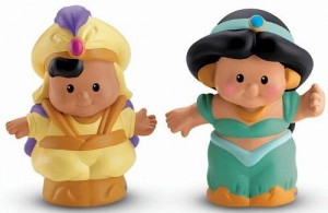 Little People Disney Yasmin y Aladdin Figuras