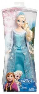 Muneca Elsa Purpurina caja