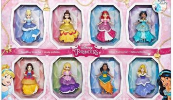 Hasbro te presenta Disney Princess Royal Clips, con ocho princesas y vestidos intercambiables