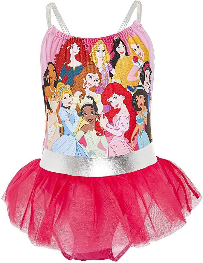 Bañador rosa con tutú Princesas Disney