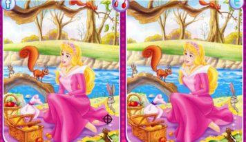 Busca las diferencias con las Princesas